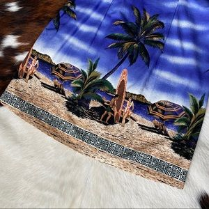 Vintage Dresses - Made in Hawaii Printed Sleeveless Mini Dress